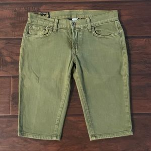 Lucky Brand Faded Green Capris